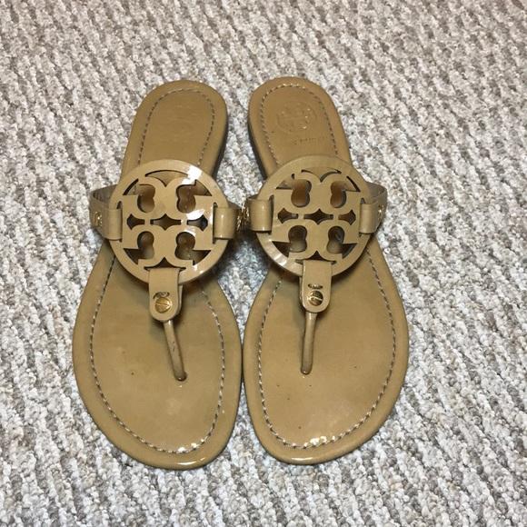 d534797d15be53 Tory Burch Shoes - Tory Burch Miller Slide Flip Flop Sandals - Sand